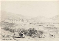 view of nazareth, the holy land (+ 9 others; 10 works) by henry courtney selous