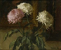 stilleben med chrysantemum by william fleetwood