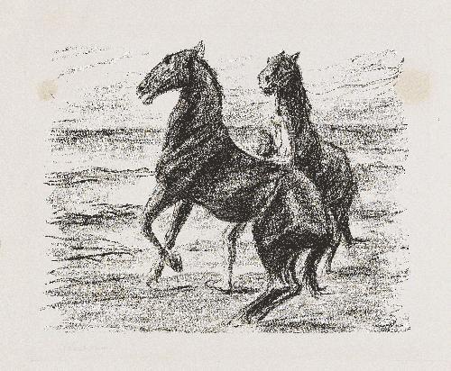 steigende pferde by max liebermann
