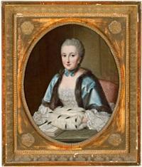 porträt der maria anna freifrau von venningen, geborene freiin von hutten zu stolzenberg by johann georg ziesenis