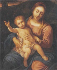 the madonna and child by andrea (andrea del salerno) sabatini