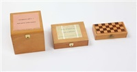 optimistic boxes/boîtes optimistes 1-3 (in 3 parts) by robert filliou