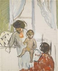 mère et enfant by henri lebasque