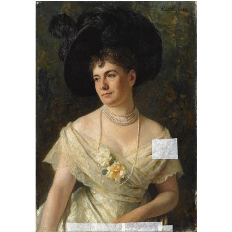 a portrait of countess marianne dohna by carl rudolph sohn
