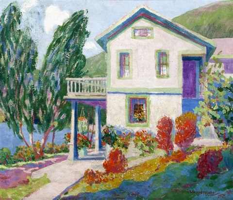 summer landscape saugatuck by minnie harms neebe