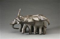 elefantenherde by karlheinz goedtke