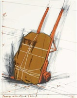 package on handtruck, project by christo and jeanne-claude