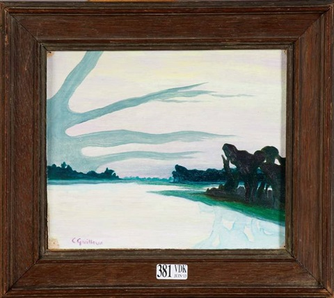 paysage lacustre by charles victor guilloux