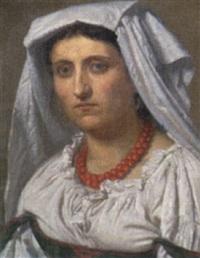porttræt af romersk kvinde by henrik benedikt olrik