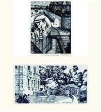 illustration pour mort de nick carter de philippe soupault by sergio ceccotti