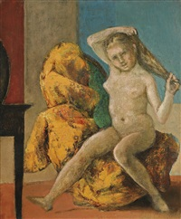 petit nu à la coiffeuse by balthus