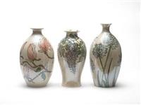 wisteria vase by lise b moorcroft