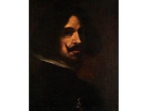 halbbildnis mit bart und weissem kragen vor dunklem hintergrund by diego rodríguez de silva y velásquez