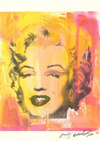woven paper silk screen of marilyn monroe by andy warhol