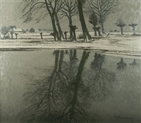 winter am niederrhein by maximilien (max) clarenbach