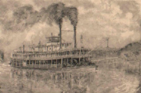 steamboat the southland by harlan hubbard