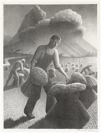 approaching storm by grant wood