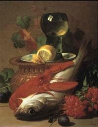 stilleben mit fisch und hummer by albert raoux