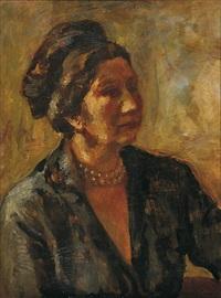 portrétní paní pelcové (study) by alois fisarek