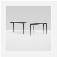 consoles (pair) by jacques adnet