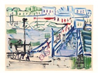 bridgetown, barbados by romare bearden