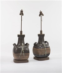 lamps (pair) by guido and bruno gambone