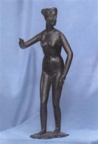 stehender weiblicher akt by ludwig mergehen
