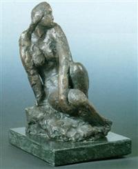 donna seduta by giovanni riva
