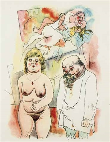 pappi und mammi from ecco homo by george grosz