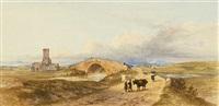 ponte salario mit blick auf den soracte - villa hadriana in der nähe von tivoli (pair) by john (newbott) newbolt