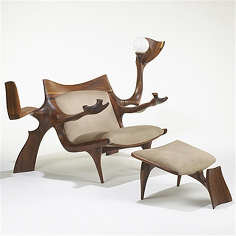 Delicieux Custom Lounge Chair And Ottoman By Jack Rogers Hopkins