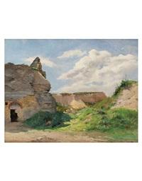 paesaggio con rovine by paul merx