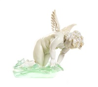 cupid in search of fish by pino signoretto