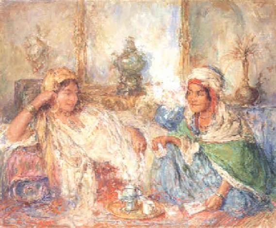 Oriental women taking tea by Edouard Verschaffelt on artnet 85e21b50a36