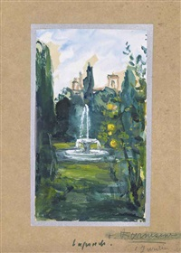 jardin du vatican (2 works) by pierre laprade
