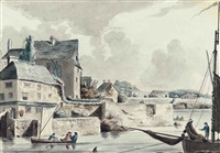 view of the port of stonehouse, plymouth (+2 others; 3 works) by john claude nattes