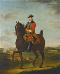 portrait of prince william augustus, duke of cumberland, on horseback by david morier