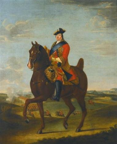 portrait of prince william augustus, duke of cumberland, on horseback by david morier
