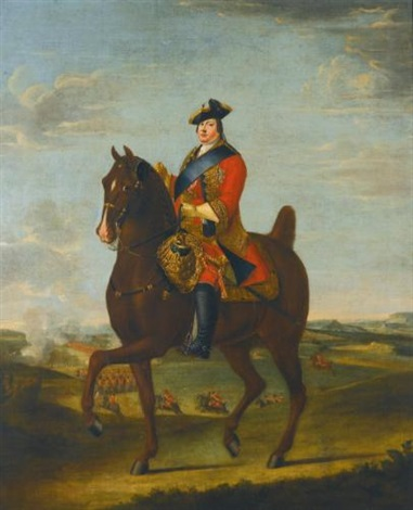 portrait of prince william augustus duke of cumberland on horseback by david morier