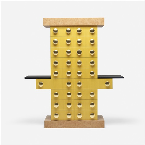 mobile giallo cabinet by ettore sottsass