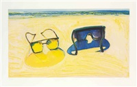 beach glasses by wayne thiebaud