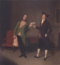 scene from new hay at the old market by george coleman by samuel de wilde