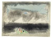 tiny and wondering souls by lyonel feininger