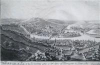 vue de la ville de liege et de ses environs prise a côté droit du monastere de saint gilles by mathieu antoine xhrouet
