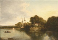 boats on the thames by alexander nasmyth