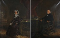 portraits (+ another; pair) by c.d. langley