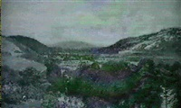 a view towards cheddar gorge by elizabeth arkwright