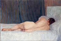 desnudo recostado by roberto fernandez balbuena