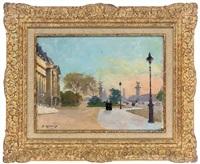 avenue alexandre iii, paris by jules ernest renoux