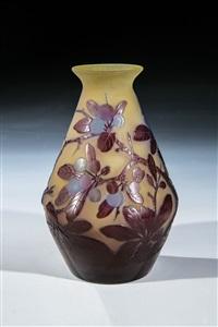 vase mit schlehdorn by cristallerie d'emile gallé
